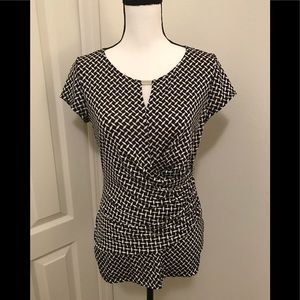 New York and Company Side ruched Top